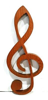 Fantastic Treble G Clef Musical Note Handcrafted Wood Wooden Ornament