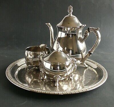Sliver Plated Tea Coffee Set 4 Piece