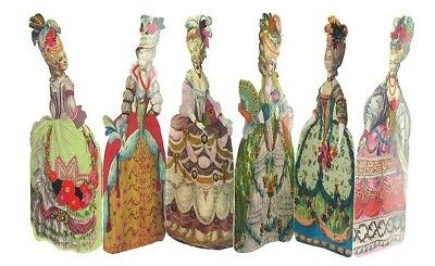 Marie-Antoinette  French Accordion bookmarks detachable set 6 Ladies France NWT