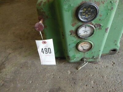 John Deere A tractor hood and dash Tag #490