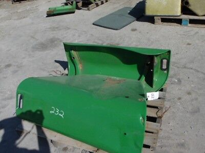 John Deere tractor left/right fenders (bigger flat top) Tag #232
