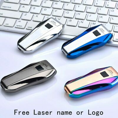Plasma Lighter USB Double Arc Zinc Alloy Metal Flameless Electronic Lighter