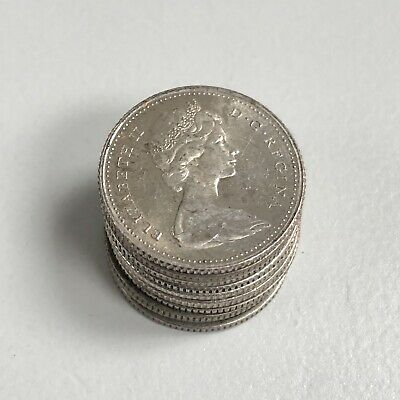 0.60 Oz Total Silver - Lot of 10 Canada Silver Dimes - 0.800/80% Silver Coins