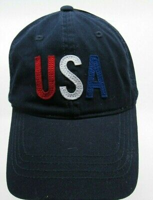 972d959bf0abb Navy Blue USA Old Navy Brand Embroidered Baseball Hat Cap Adjustable Strap  G3