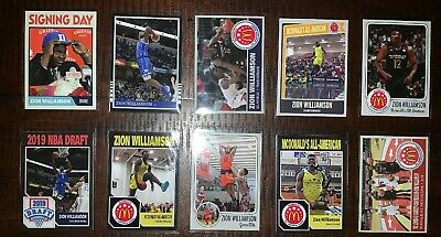 10 Different ZION WILLIAMSON 2018 Rookie Cards RC Duke McDonalds ACEO