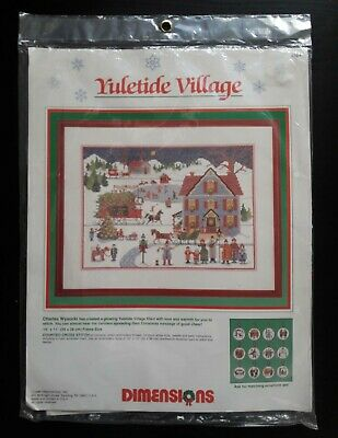 Dimensions # 8364 Yuletide Village Counted Cross Stitch Kit Unopened