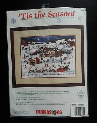 Dimensions # 8460 'Tis the Season! Counted Cross Stitch Kit Unopened