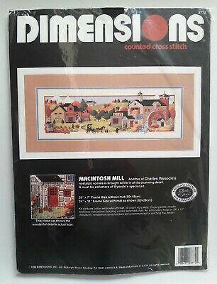 Dimensions # 3774 Macintosh Mill Counted Cross Stitch Kit Unopened