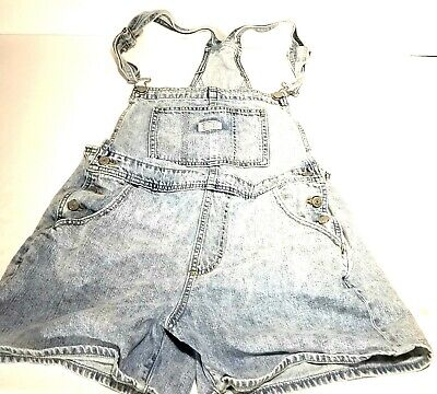 104523ed Levi Strauss & Co Two-Horse Brand Vintage Overalls Shorts Women's Medium EUC