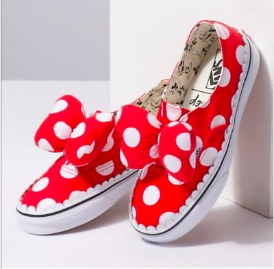 f2cfac9fbacb98 VANS X DISNEY Authentic Gore Minnie Mouse Red Bow Slip On Kids Youth ...