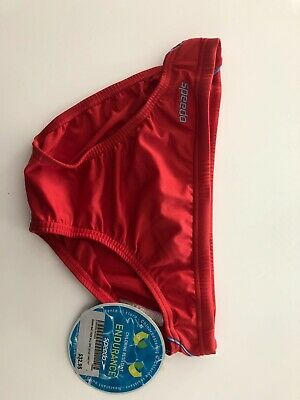 BNWT - Speedo Endurance swimmers - Red with blue trim - Boys size 12
