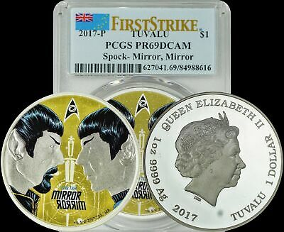 2017-P Tuvalu Silver Spock-Mirror First Day of Issue PCGS PR69DCAM Blast White