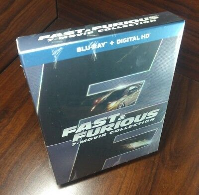 Fast & Furious 7-Movie Collection (Blu-ray+Digital)NEW-Free Shipping with Tracki