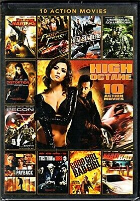 High Octane 10 Action Movies DVD, Treasure Raiders, Fast Track, Good Girl, Bad G