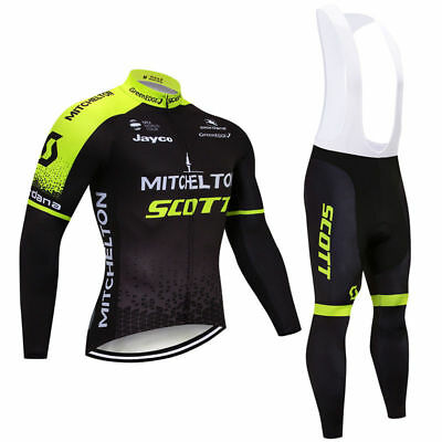 6972a996a65 Men Cycling Jersey Long Sleeve Bib Pant Kit Bicycle Bike Shirt Team Set  Clothes