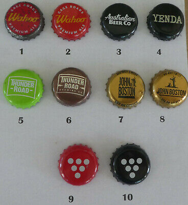 10 Australian small brewery or sold in Australia Crown Seal Bottle Caps (Lot 3)