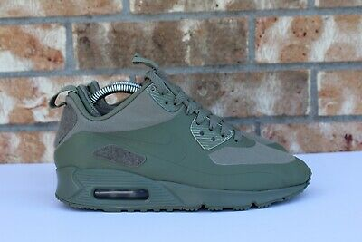 2e6096f659 Men's Nike Air Max 90 Sneakerboot SP Patches Steel Green Olive Size 6  704570-300