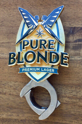 Pure Blonde Lager Metal Tap Top Badge with Mount Top FREE POSTAGE