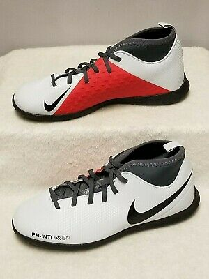 NIKE Phantom Vision Club DF IC Sz 5 Indoor Soccer Shoes Pure Platinum AO3293 060