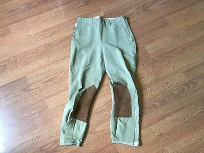 Tailored Sportsman Riding Pants English Equestrian Breeches Suede Youth 18 X 23