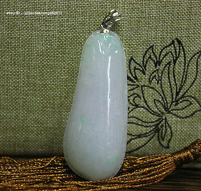 52mm Chinese Yun Nan Natural Green Jade Jadeite Hand-carved Melon fruit Pendant