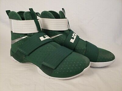 2a714a8b008 Nike Lebron James Soldier 10 Mens Spartan Basketball Shoes 856489-331 US 16  NWOT