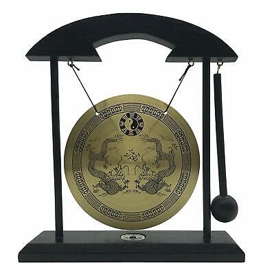 Zen Table Gong TaiChi Dragon Feng Shui Meditation Desk Bell Home Decor Gift USA