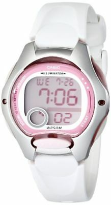 Casio Women's Waterproof Sport Digital Quartz Watch White Resin Strap Pink