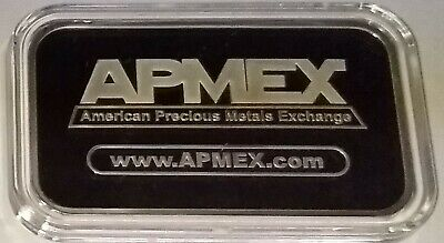APMEX  1 TROY OUNCE .999 FINE SILVER BAR In Plastic Case