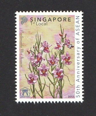 Singapore 2017 50Th Anniversary Of Asean Joint Stamp Issue Comp Set 1 Stamp Mnh