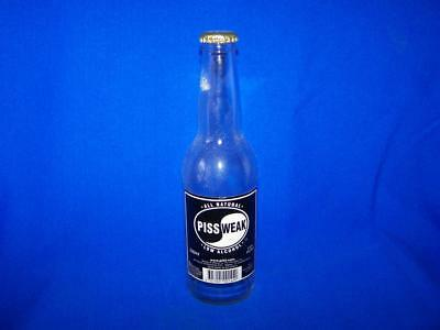 Piss Weak beer bottle stubby All Natural Low Alcohol Aussie empty unusual curio