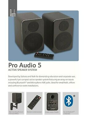 Roth Pro Audio 5 Active Speakers -  RCA XLR 1/4 Jack -  Bluetooth