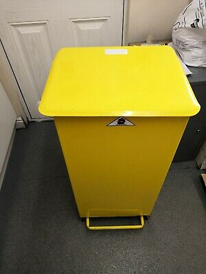 Metal Pedal Operated Bag free standing CLINICAL Waste Bin SACK HOLDER