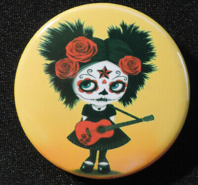 Pin Button Badge Ø38mm  CALAVERA ( Fête des morts ) 2