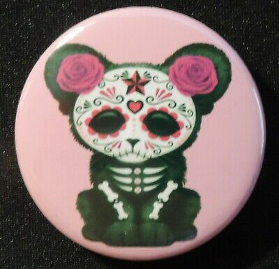 Pin Button Badge Ø38mm  CALAVERA ( Fête des morts ) 3