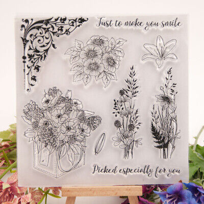 make you smile transparent clear silicone stamp for  scrapbooking photo decorBCD