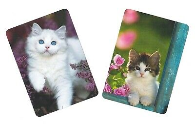 Swap / Playing Card ~  Kittens  Cats  ~ Modern Wide ~ 2 Cards