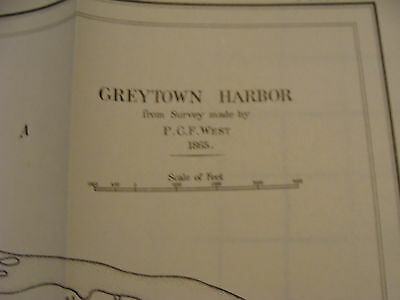 Early 1900's Original chart ISTHMIAN CANAL: GREYTOWN 1865 data, plate 57