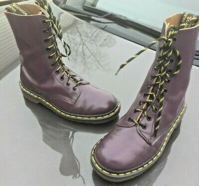 79915a307780 Vintage Dr Martens 1490 purple leather boots UK 5.5 EU 38.5 Made in England