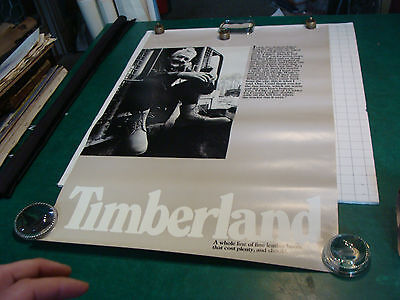 "original vintage Poster: TIMBERLAND Boots #1--22 x 34"", from the 1980's"