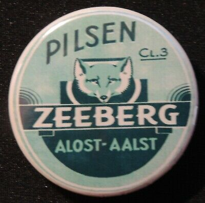 Pin Button Badge Ø38mm ( Ancienne bière - Bier - Beer ) ALOST #21