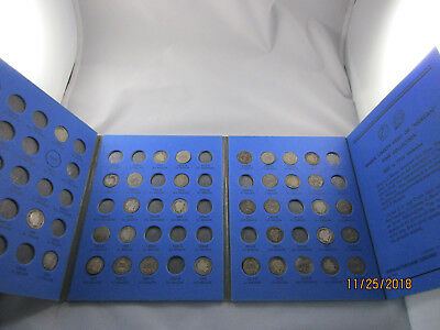37 different Barber Dimes and book - Silver, circulated