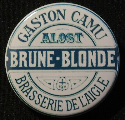 Pin Button Badge Ø38mm ( Ancienne bière - Bier - Beer ) ALOST #23