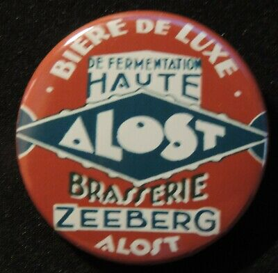 Pin Button Badge Ø38mm ( Ancienne bière - Bier - Beer ) ALOST #24