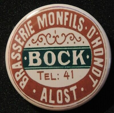 Pin Button Badge Ø38mm ( Ancienne bière - Bier - Beer ) ALOST #25