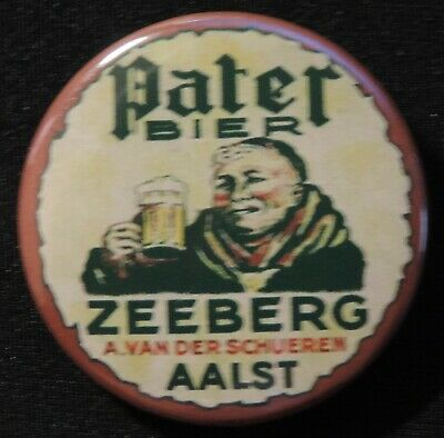 Pin Button Badge Ø38mm ( Ancienne bière - Bier - Beer ) ALOST #26