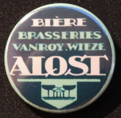 Pin Button Badge Ø38mm ( Ancienne bière - Bier - Beer ) ALOST #28