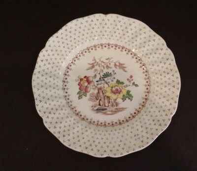 "Royal Doulton Grantham Bread and Butter Plate 6.50""  Brown Transferware D.5477"