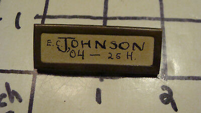 Vintage Original -- BRASS NAME TAG, had ribben at one time, OLD
