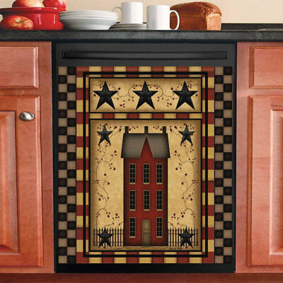 Kitchenalia Country Patchwork Heart Star Primitive Folk Art Dishwasher Magnet Kitchen Decor Collectables Sloopy In